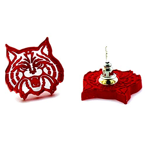 U of A Wildcat - Red - Laser Cut Acrylic University of Arizona Earrings