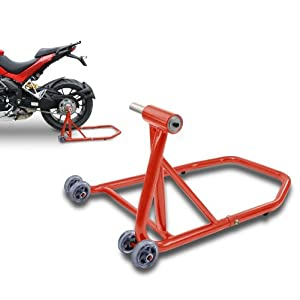 ConStands Rear Paddock Stand Triumph Speed Triple/ R 97-17 red, Single Swing Arm, adaptor incl.