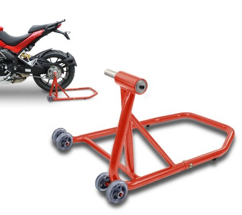 ConStands Rear Paddock Stand Ducati 848/ Evo 08-13 red, Single Swing Arm, adaptor incl.