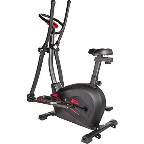 XtremepowerUS 2 in 1 Cardio Dual Trainer Elliptical Workout Stationary