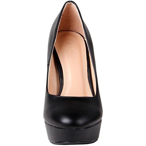 Scarpe Black Donna Caspar Fashion Tacco Col vZqx6gxFw