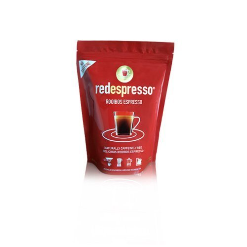 Red Espresso Rooibos - Red Tea - South African - 250g (8.8oz) Ground - Vegan, Non GMO, Antioxidant, Caffeine-Free, Allergy Friendly, Kosher, Organic (8.8oz (250g)) by Red Espresso