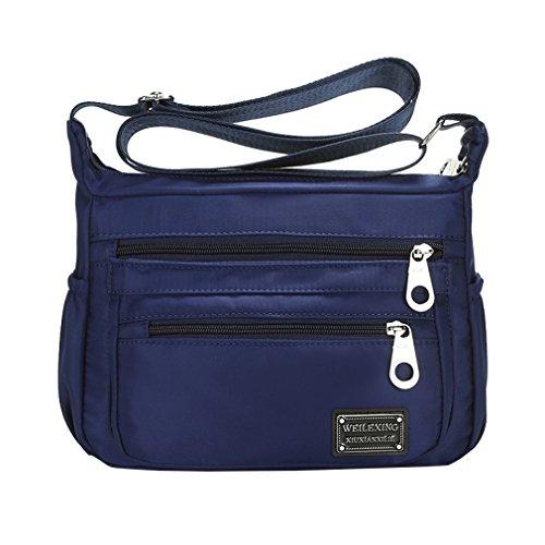 Lonson Women Multi Shoulder Bag Waterproof Nylon Weekend Shopping Croosbody Bag (Casual Chic Handbag)