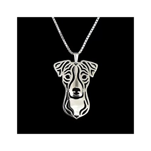 Silver Jack Russell Terrier Dog Necklace (Jack Russell Dachshund)