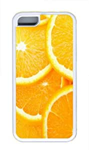 iPhone 5C Case,Orange Fruit TPU Rubber Soft Case Back Cover for iPhone 5C White
