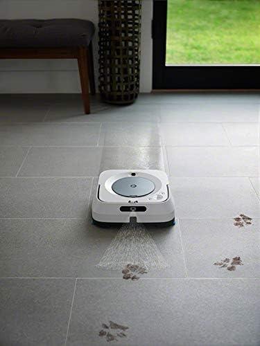 iRobot Braava Jet m6134 Robot Laveur de Sols Premium, Connecté, avec Pulvérisateur d'Eau et Navigation Avancée, Cartographie Intelligente, Programmable via l'Application iRobot Home - Home Robots