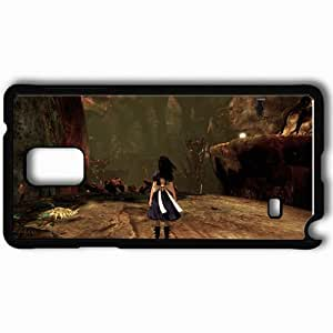 Personalized Samsung Note 4 Cell phone Case/Cover Skin Alice Madness Returns Black