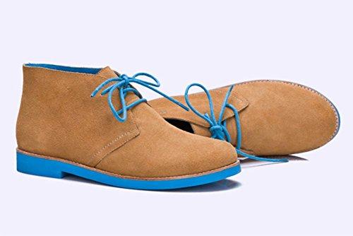Ms Spring redondas y botas con cordones de los zapatos de tacón bajo las botas de otoño individuales señorita Ma Dingxue , US8 / EU39 / UK6 / CN39