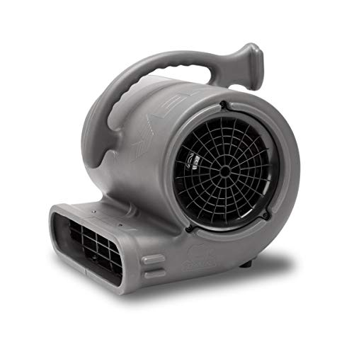 B-Air VP-50 1/2 HP Air Mover for Janitorial Water Damage Restoration Stackable Carpet Dryer Floor Blower Fan, Grey