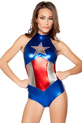 Enhanced American Hero Costume - Medium - Dress Size - Sexy Captain America Costumes