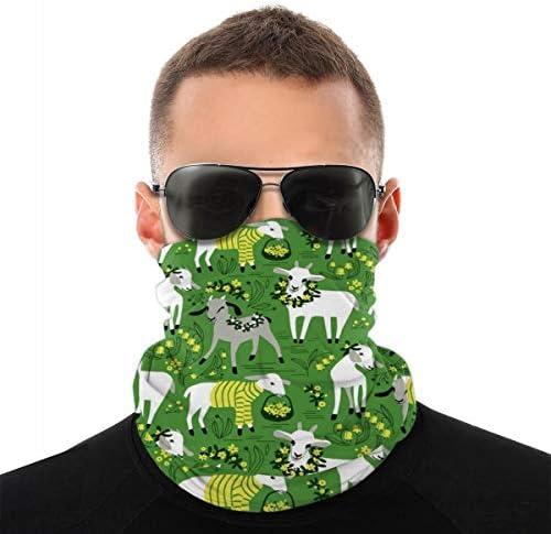 Carolyn Berns Goat Multifunktionaler Turban-Schal mit hoher Atmungsaktivität, hohe Elastizität für das Gesicht, staubdicht, winddicht, Sonnenschutz, Unisex
