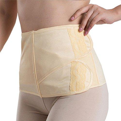 Vogue of Eden Women Maternity Cotton Elastic Postpartum Belly Band Yellow