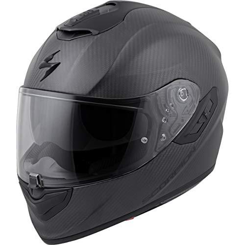 (Scorpion EXO-ST1400 Carbon Adult Street Motorcycle Helmet - Matte Black/Large)