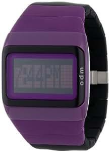 ODM SDD99-8 - Reloj digital de mujer de cuarzo con correa de silicona lila