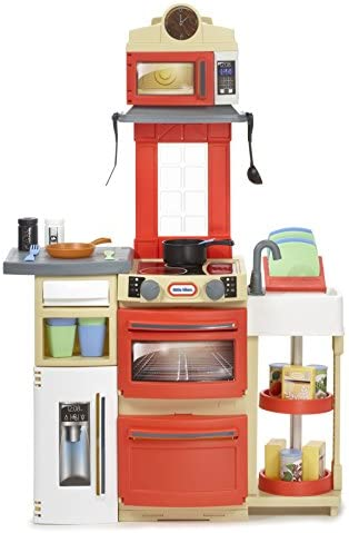 Little Tikes Cook N Store Kitchen Playset Red Toys Games