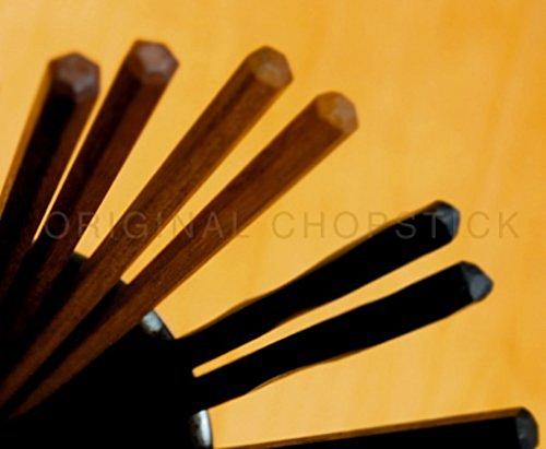 Optimal edible chopsticks made in Japan to Guest 5 sets of wooden chopsticks@Brown
