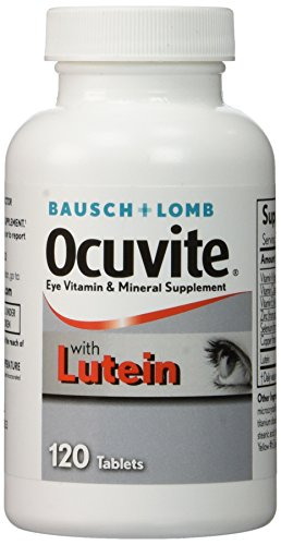 Lutein With Optilut 10 Mg: BAUSCH & LOMB OCUVITE WITH LUTEIN! 120 TABLETS EYE CARE