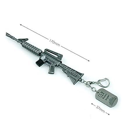 Amazon.com: Llavero de metal con diseño de trompeta de fusil ...