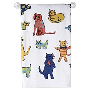 Primary Pets Printed Design Bathroom Bath Towel