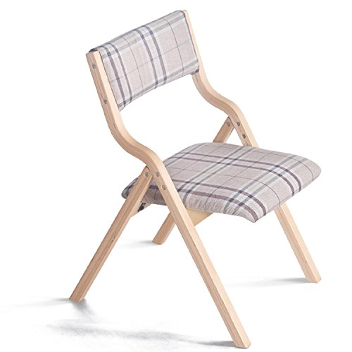 GAOJIAN Wooden Folding Chair Modern Home Fabric Dining Chair Book Chair Balcony Backrest Chair Computer Chair , e by GAOJIAN