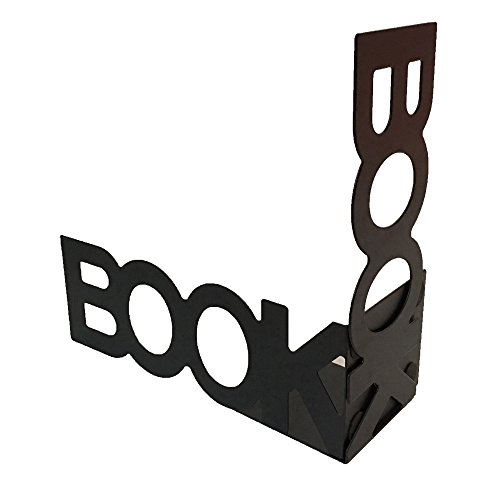 Saturday GO 1 Pair Book Bookends Nonskid Art Bookends (Black) by Saturday GO