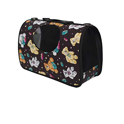 R 53×22×31cmFoldable pet Dog cat Carrier, Breathable and Comfortable Dog cat Travel Outdoor Handbag, Suitable for Most Cats and Small Dogs,F,44×22×26cm