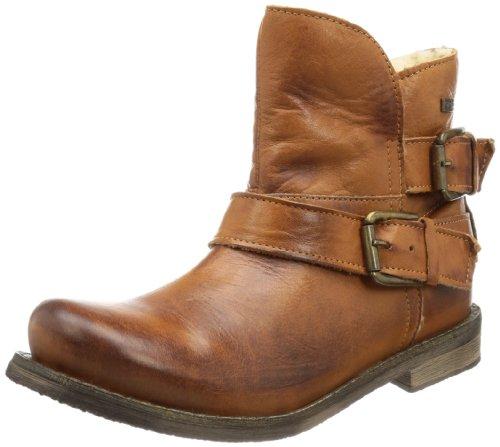 Buffalo London ES 30243 GARDA - Botas Antideslizantes de cuero mujer marrón - Braun (BRANDY 01)