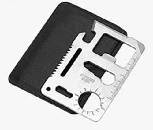 Stainless Steel 11 in 1 Beer Opener Survival Card Tool Fits Perfect in Your Wallet (10 pack)