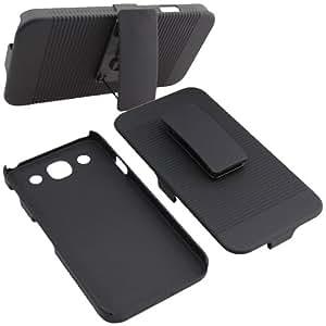 BW Hard Cover Combo Case Holster for AT&T LG Optimus G Pro E980 -Black