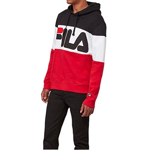 Fila Men's Trayton Hoody Shirt, Chinese Red, Navy, White, XL
