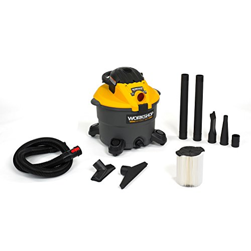 Workshop Wet Dry Blower Vac WS1200DE Heavy Duty Leaf 12 Gallon Wet Dry Vacuum Cleaner And Leaf Blower, 5.0 Hip