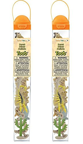 Prairie Animals - Pack of 2 Safari Ltd Desert TOOB Bundled by Maven Gifts