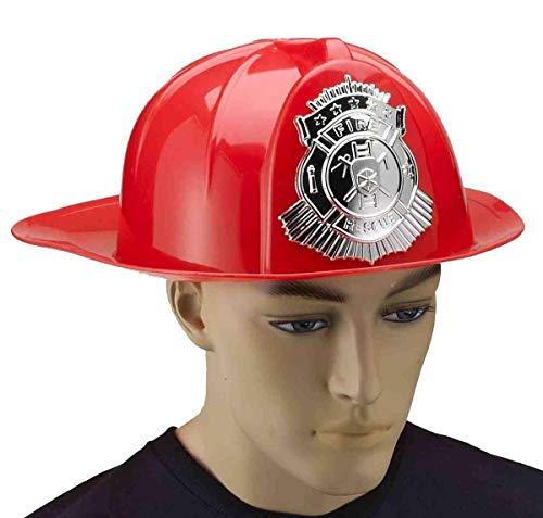 Forum Novelties 68165 Deluxe Firemans Helmet Adult Accessory, Standard, Red