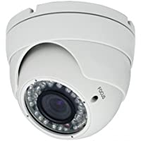 2 Megapixel 1080P Dome 42IR HD-CVI HD-TVI AHD CVBS 700TVL (4 options in 1) Camera 2.8-12mm lens Vandalproof Indoor Outdoor Aluminum Housing Security Camera for White Color