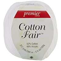 Premier Yarn 3-Pack Cotton Fair Solid Yarn, White