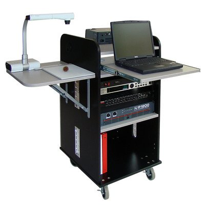 AV Lecterns and Podiums Answer Multimedia Rack Cart Color: Black / Gray Granite (Multi Podium Cart)