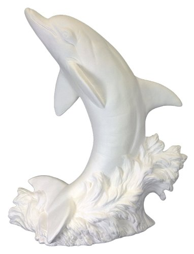 Ceramic Bisque - Ready to Paint - Jumping Dolphin