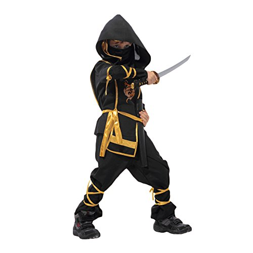 CHN'S Boy Kids Toddler Ninja Assassin Fancy Dress Up Party Costume Halloween Outfit (4-6 years, (Assassin Halloween Costumes)