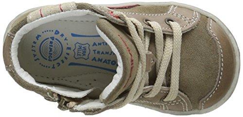 Primigi Damon - Zapatos de primeros pasos Bebé-Niñas Verde - Vert (Vitello/Scamosc Salvia/Fango)