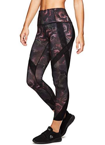 RBX Active Women's Gym Workout Athletic Leggings Tulip Black S (Rbx Active Womens Fleece Cuffed Jogger Sweatpants)