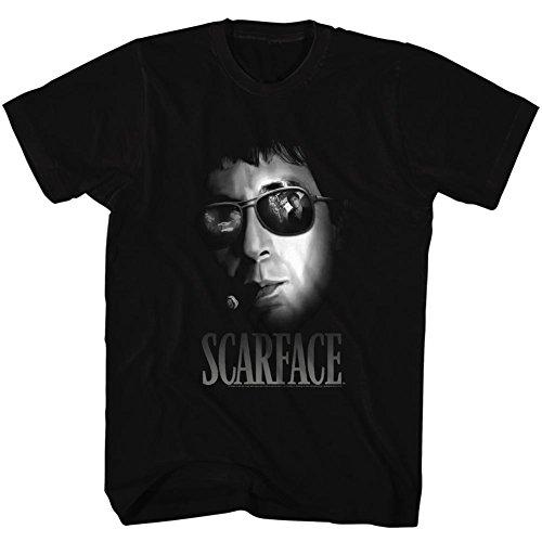para 2bhip camiseta Thriller negra Scarface hombre Drama Movie Aviator BxTXx1w