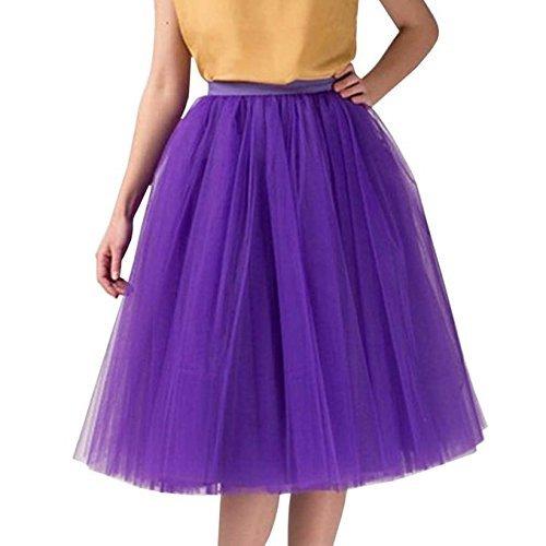 clearbridal Damen 50s Vintage Tüll Petticoat Tutu Rock Bridal Petticoat Unterrock für Ball Abend Hochzeit 12021 Violett