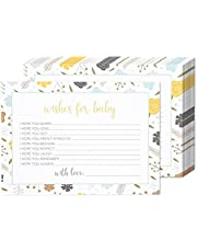 50 Sheets Baby Shower Party Games - for Boy or Girl Unisex Gender Neutral