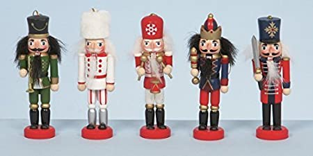5 Wooden Hanging Nutcracker Christmas Decorations by Christmas ...