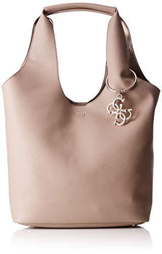 Guess Flora, Women's Shoulder Bag, Brown (Taupe/Tau), 45x31x16.5 cm (W x H L)