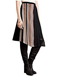 Tweed Chiffon Skirt, Black, 6