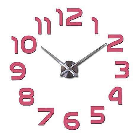 Kamas New DIY Wall Clocks Acrylic Mirror Digital Watch