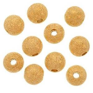 Beautiful Bead 14mm Stardust 22K Gold Plated Brass Base Spacer Round Beads for Bracelets DIY Jewelry Making (10pcs (Gold Plated Stardust Sparkle)