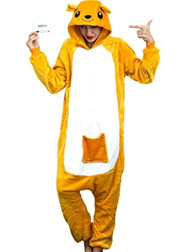 iSZEYU Adult Onesie for Women Halloween Costumes Men Teens Girls Animal Pajamas (S Fit Height 59