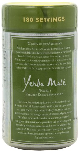 Wisdom of the Ancients Instant Yerba Mate Tea, Unsweetened, 2.82 Ounce (Pack of 4)